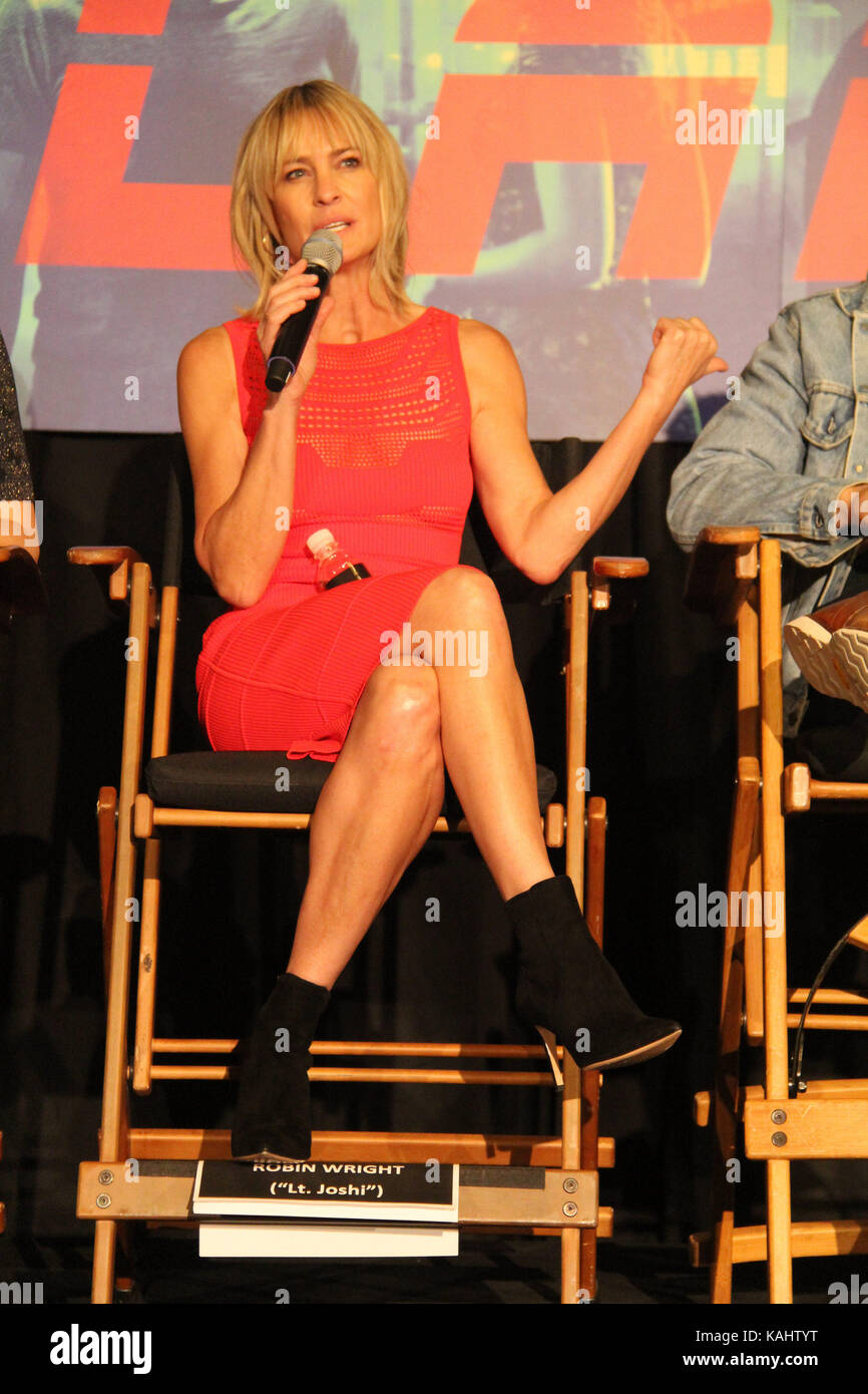 Robin Wright  09/24/2017 'Blade Runner 2049' Press Conference held at JW Marriott Los Angeles L.A. LIVE - Stock Image