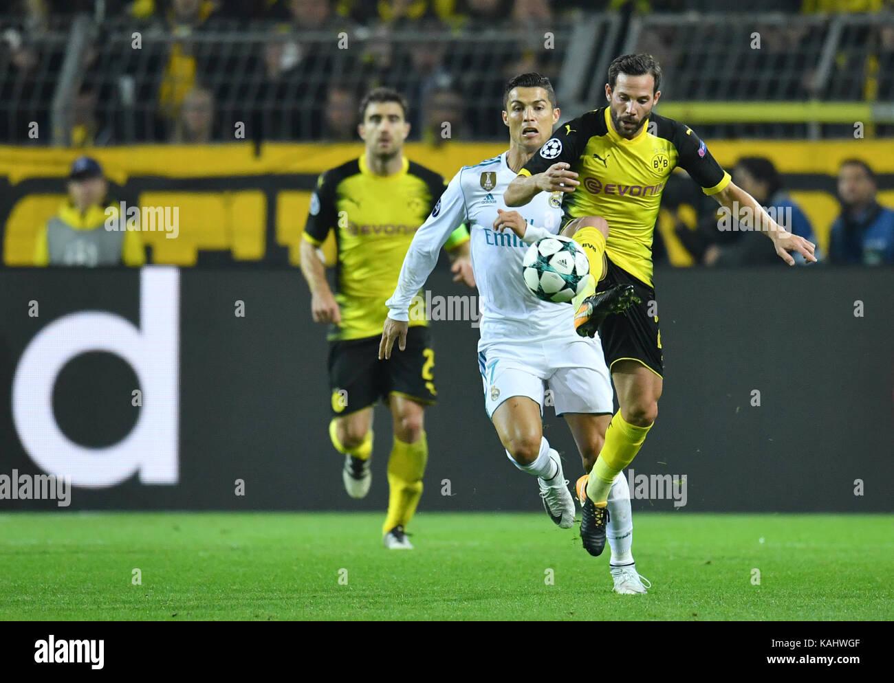 Fußball: UEFA Champions League, Vorrunde 2. Spieltag Borussia Dortmund - Real Madrid am 26.09.2017 im Signal - Stock Image