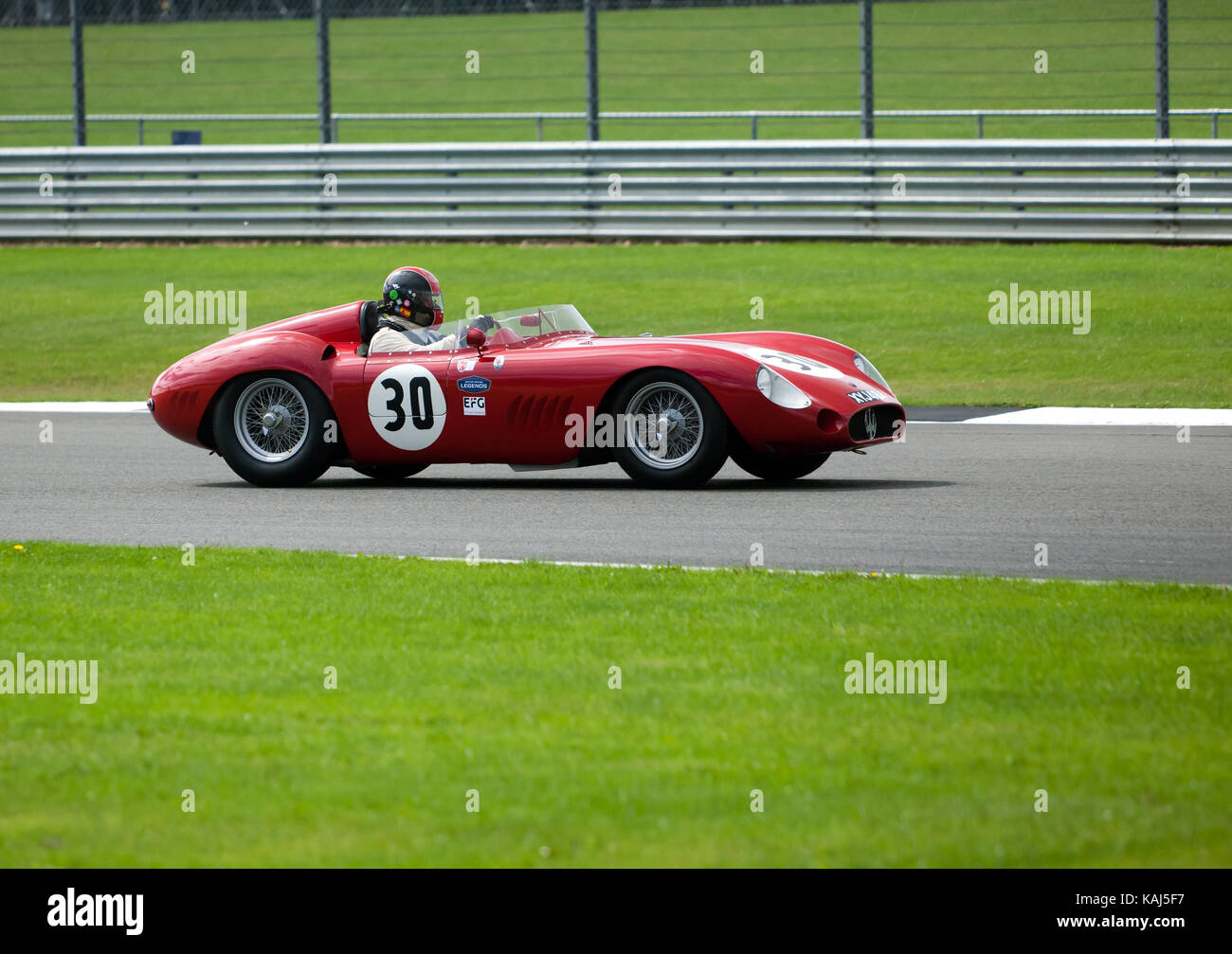 A  1957, Maserati 300S  competing in the  RAC Woodcote Trophy for Pre '56 Sports Cars, at the 2017 Silverstone Classic Stock Photo