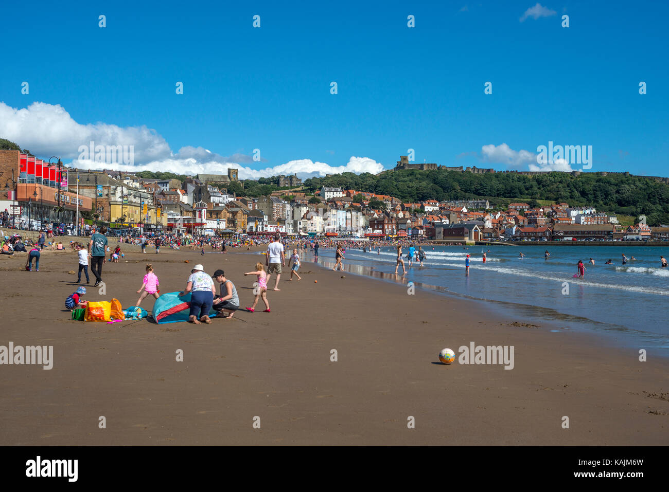 Scarborough South Bay and Beach, North Yorkshire - Stock Image