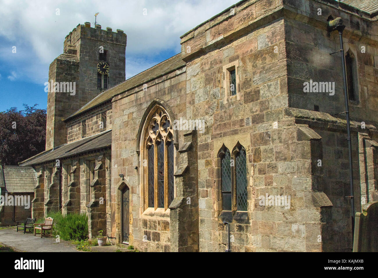 Church of All Saints,Ripley,North Yorkshire,UK. - Stock Image