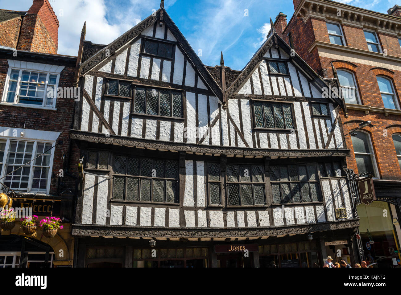 Decorated Medieval Shop Front, The Shambles, York - Stock Image