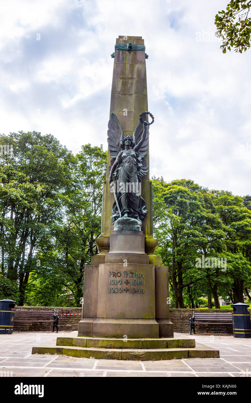 War Memorial, The Slopes, Buxton, Derbyshire - Stock Image