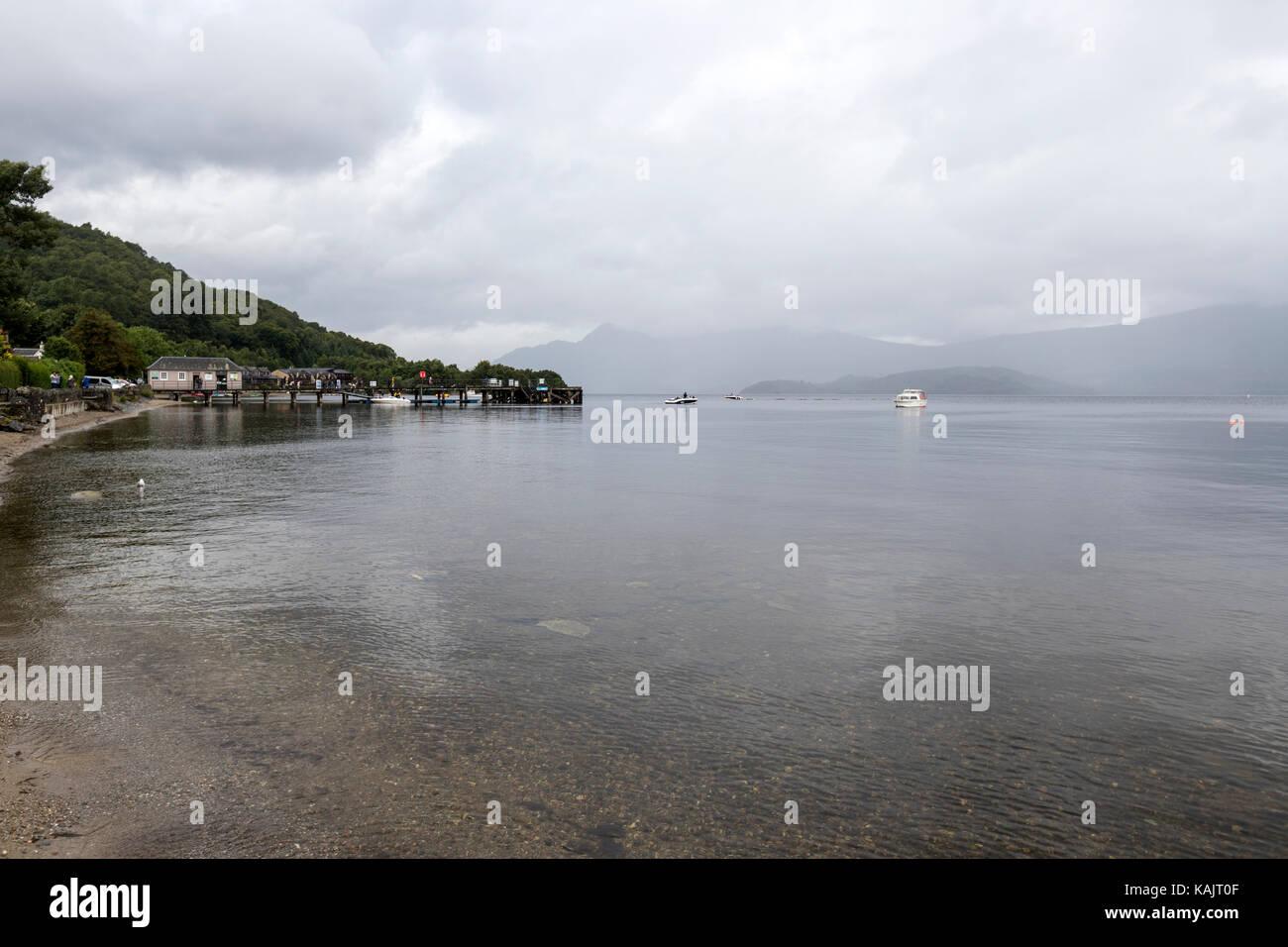 Luss, on the west bank of Loch Lomond., Argyll & Bute, Scotland, UK - Stock Image