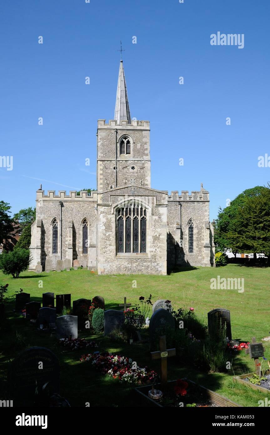 St Mary the Virgin Church, Ivinghoe, Buckinghamshire - Stock Image