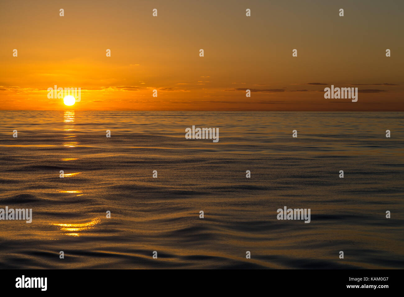 Sunset on the Bay of Biscay Stock Photo