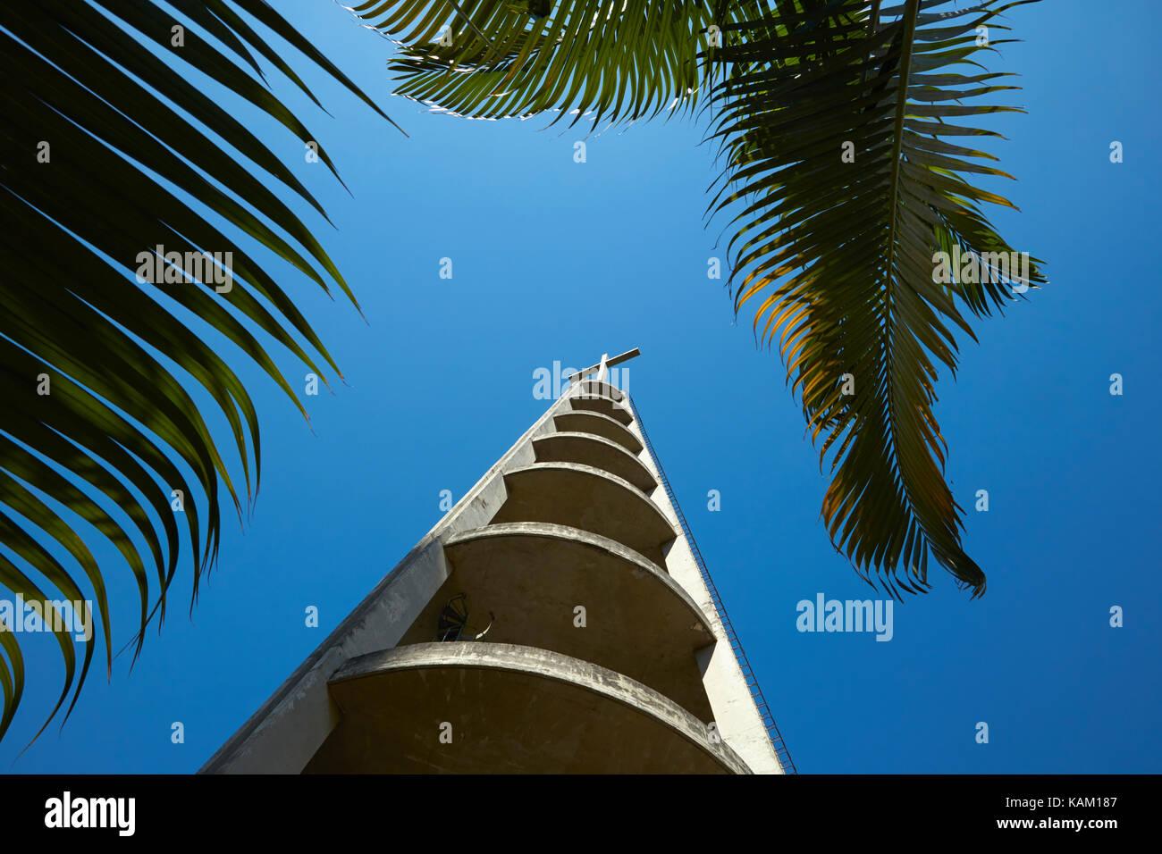 Bell tower, Catedral Metropolitana de São Sebastião, Centro, Rio de Janeiro, Brazil, South America - Stock Image