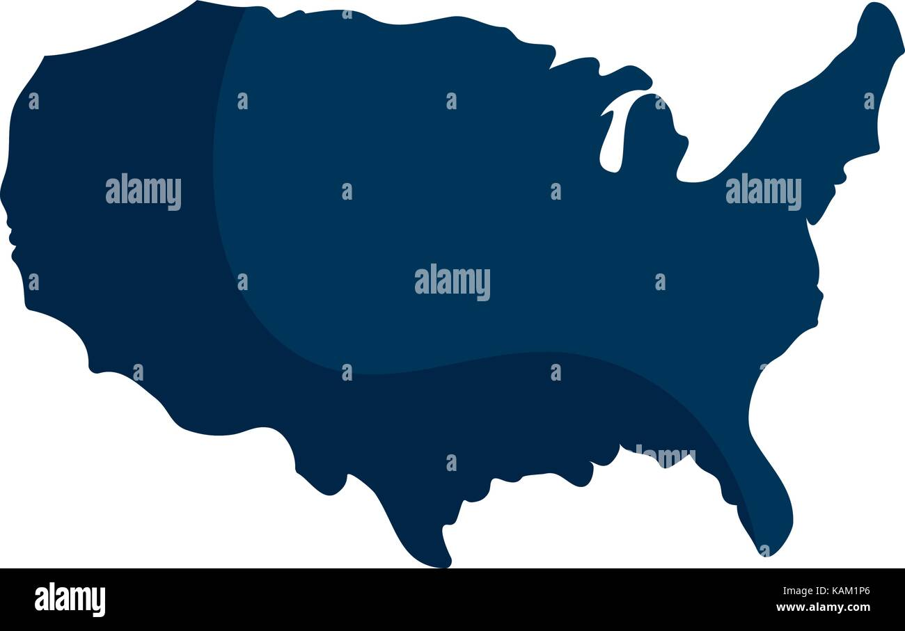 United states map silhouette Stock Vector Art & Illustration, Vector ...