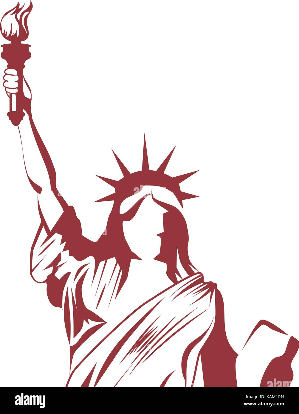 Statue of liberty Stock Vector