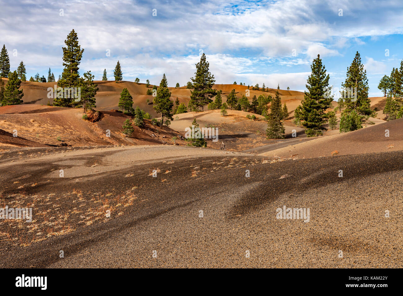 The Painted Dunes in Lassen National Park - Stock Image