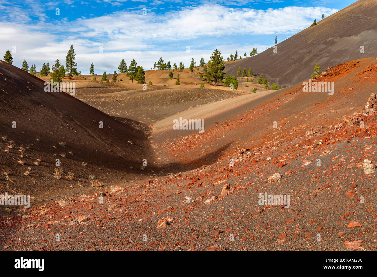 The Painted Dunes in Lassen Volcanic National Park - Stock Image