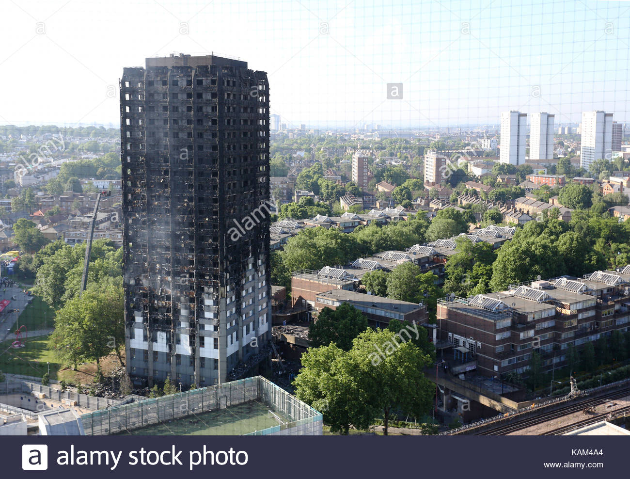 File photo dated 15/06/2017 of Grenfell Tower in west London. The future of Kensington and Chelsea Tenant Management - Stock Image