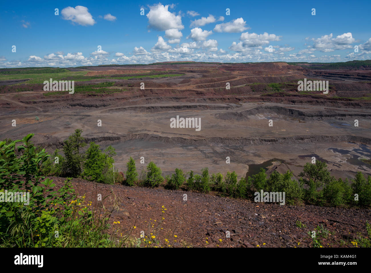 The Hull Rust Mahoning, the world's largest open pit iron ore mine. - Stock Image