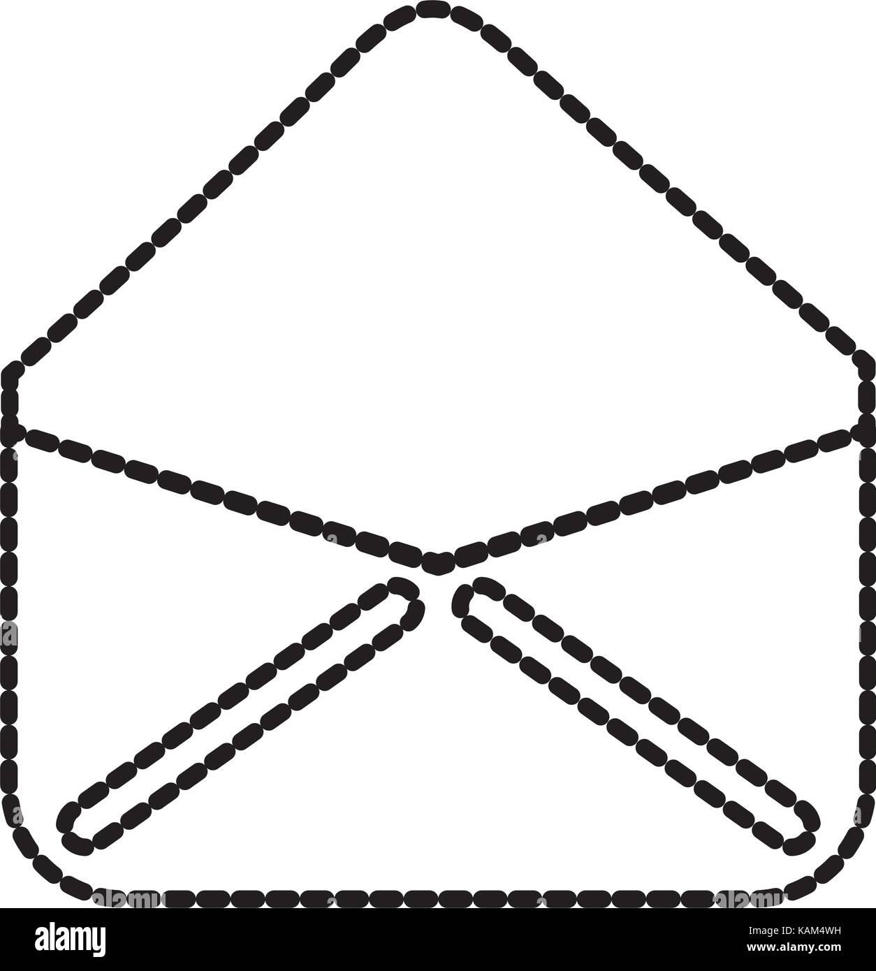 open envelope email virtual web app - Stock Image