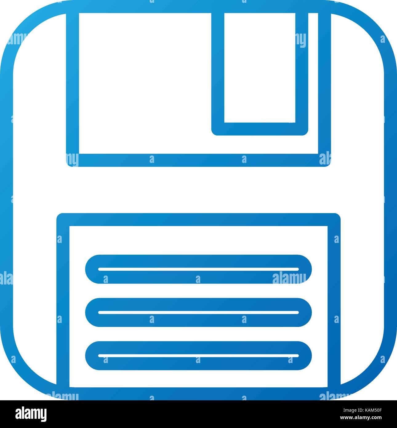 diskette backup storage information plastic Stock Vector