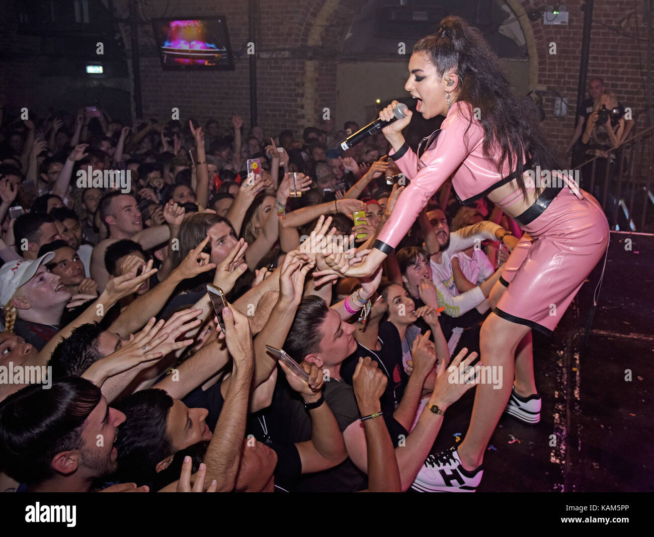British singer and songwriter Charli XCX performed an