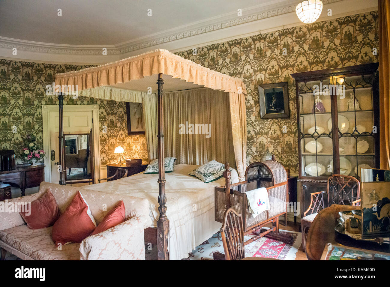 Interior of Quex House at Birchington-on-Sea, Kent, UK - Stock Image