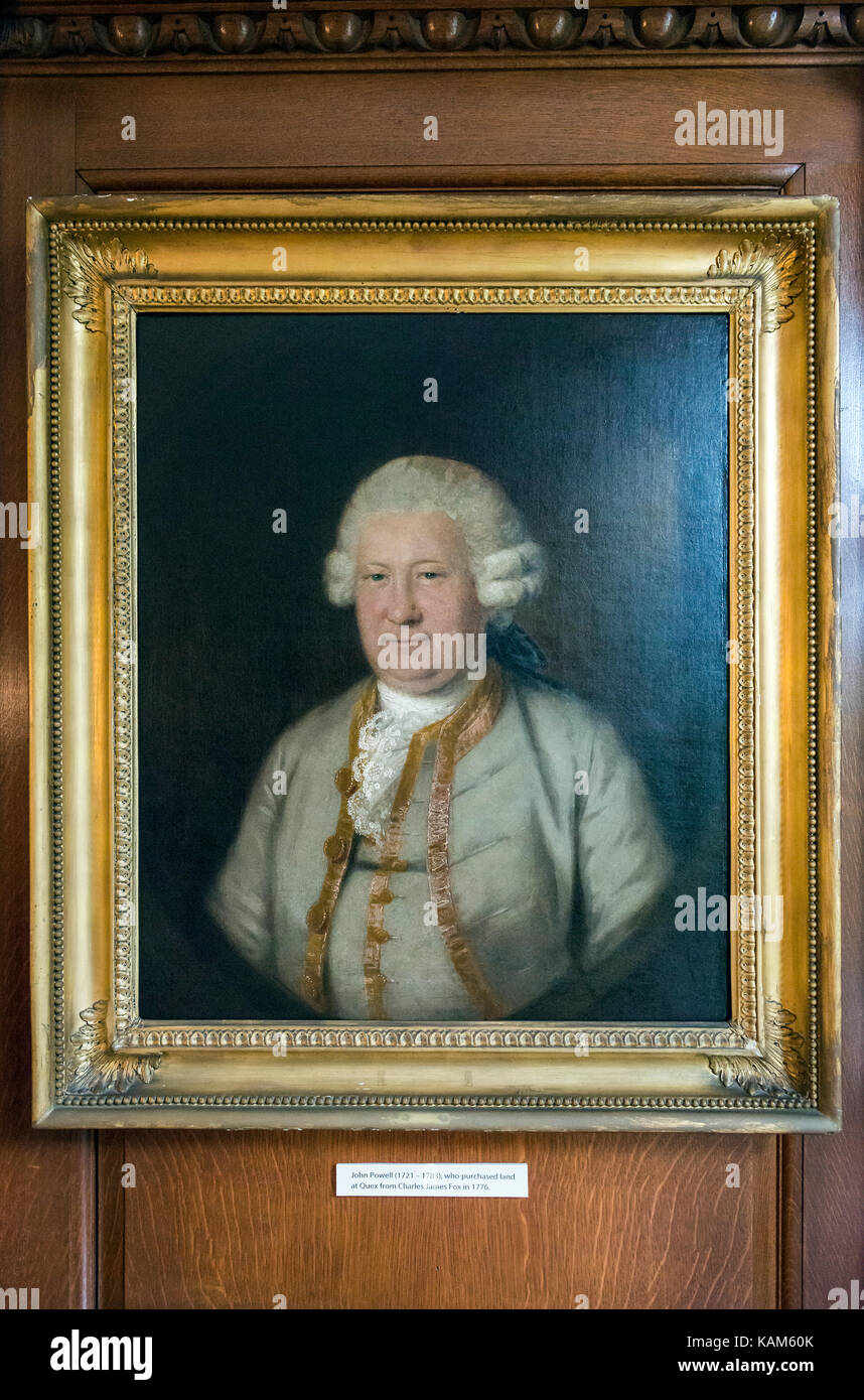 Portrait of John Powell at Quex House, Birchington-on-Sea, Kent, UK - Stock Image