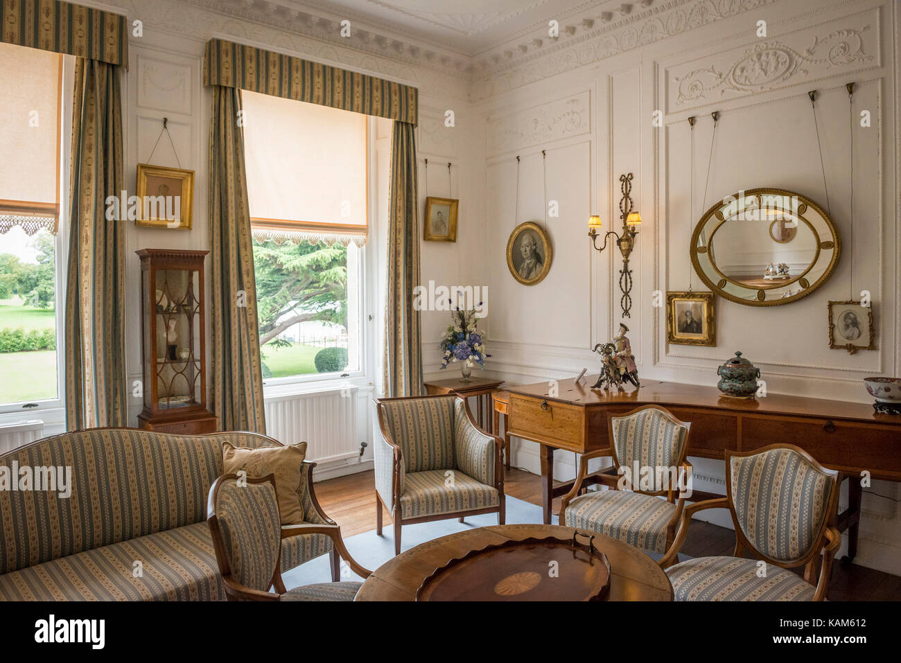 Interior of Quex House at Birchington-on-Sea, Kent, UK Stock Photo