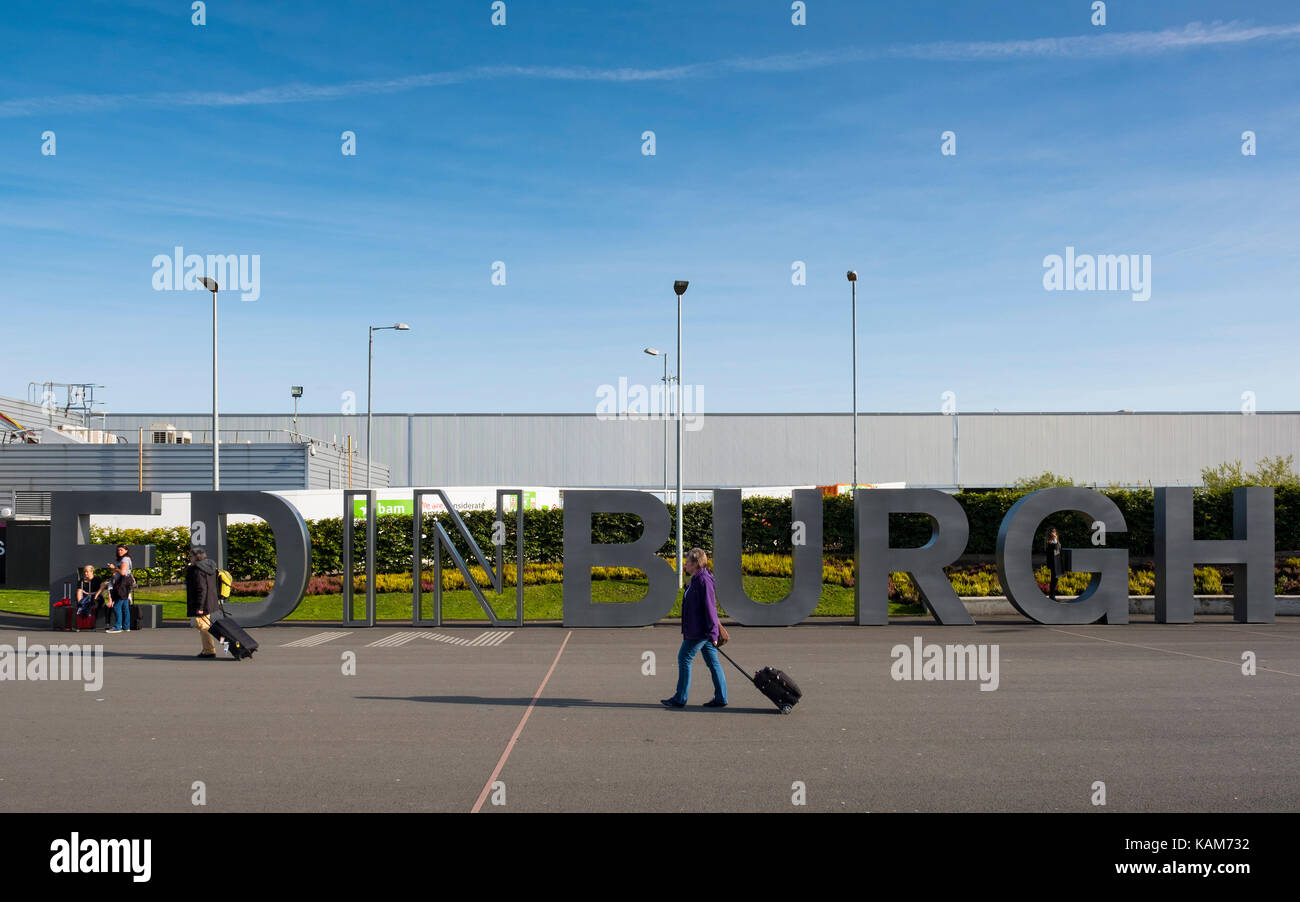 Edinburgh International Airport, Lothian, Scotland, United Kingdom. - Stock Image