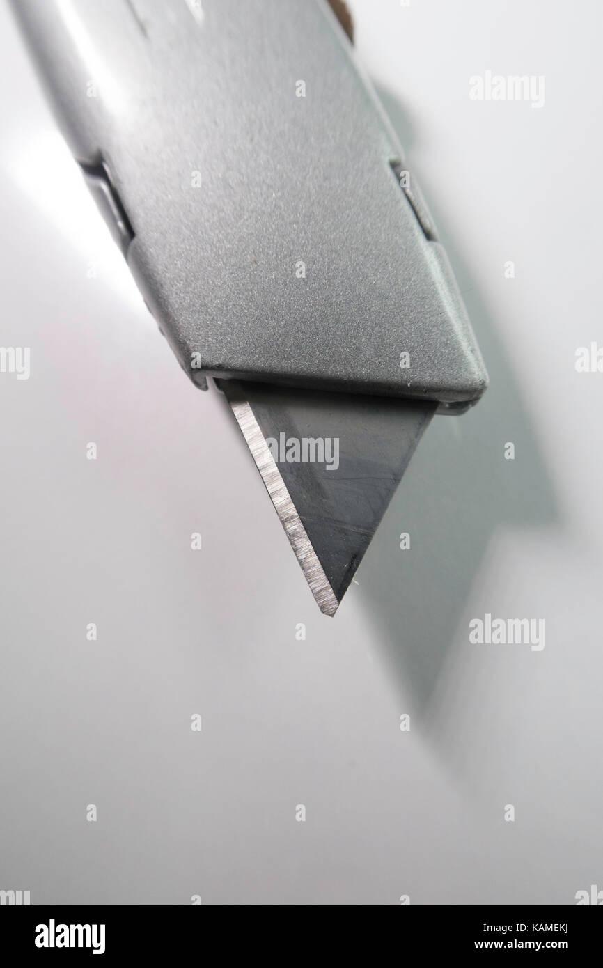 Metal Retractable Utility Knife - Stock Image