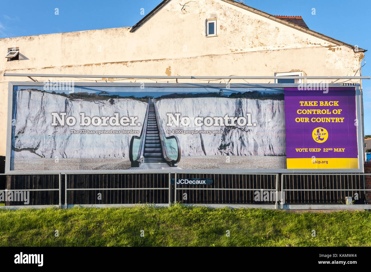 UKIP political poster for local UK elections, May 2014. Reading, Berkshire, England, GB, UK. - Stock Image