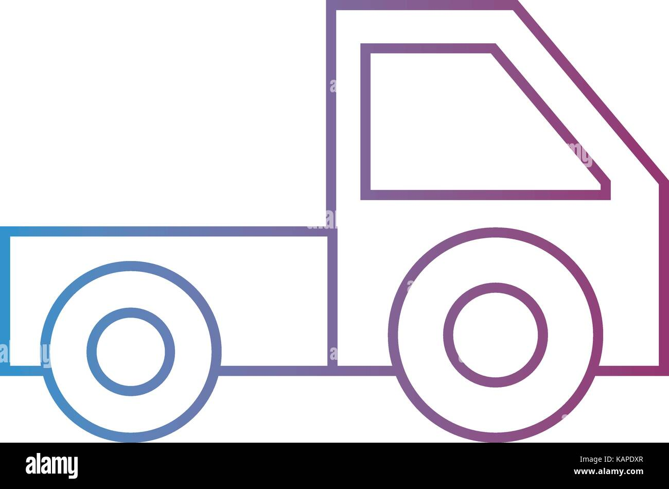 line trunk vehicle transportation style design - Stock Vector