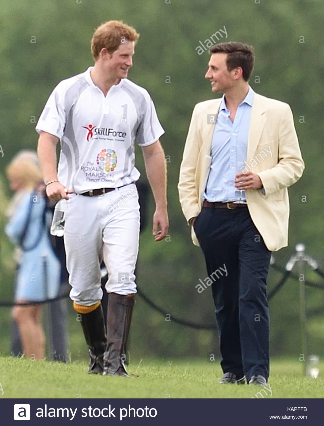 Prince Harry And Charlie Van Straubenzee Stock Photos