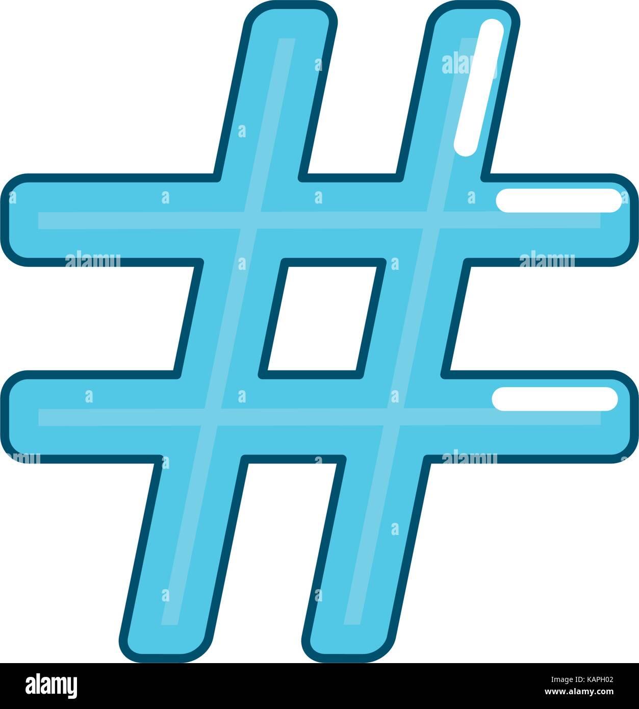 numeral symbol design type icon - Stock Image