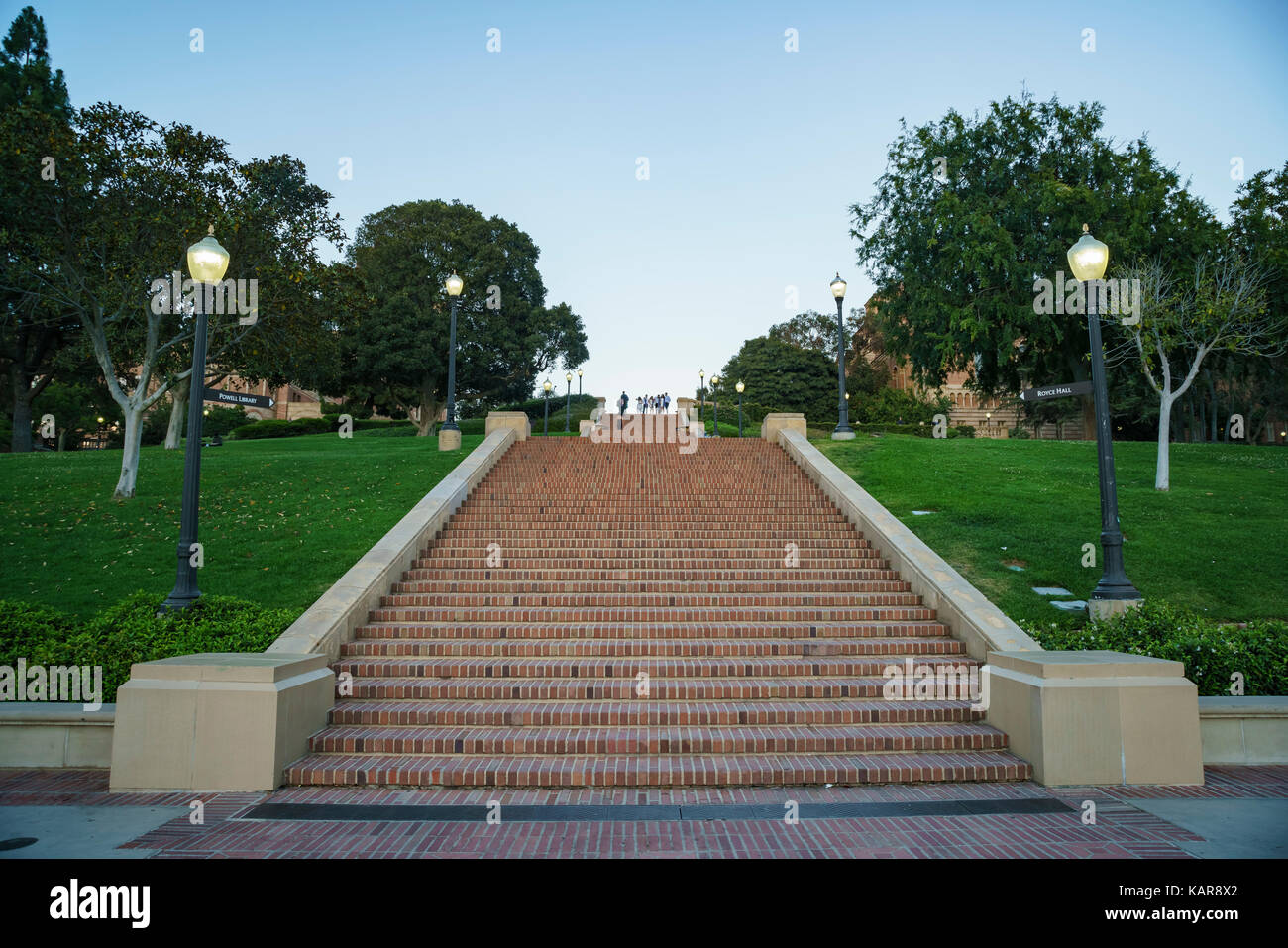 Westwood, JUN 21: UCLA long stairs on JUN 21, 2017 at Westwood, Los Angeles County, California, United States - Stock Image