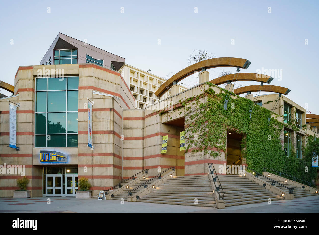 Westwood, JUN 21: UCLA Book Store and Ackerman Union on JUN 21, 2017 at Westwood, Los Angeles County, California, - Stock Image