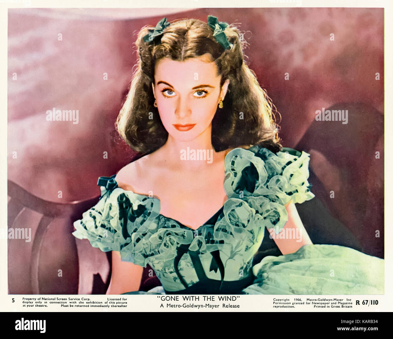 Vivien Leigh (1947-1967) playing Scarlet O'Hara in Gone With the Wind (1939) directed by Victor Fleming and George - Stock Image
