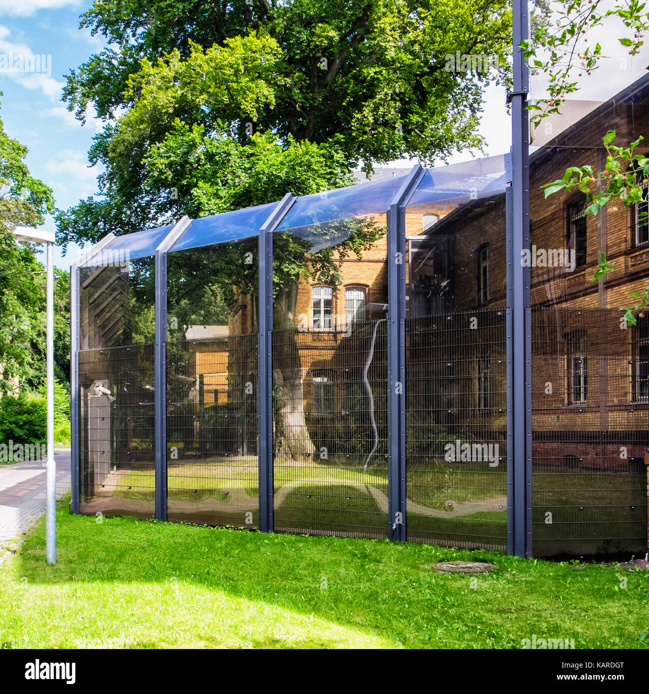 Berlin Karl-Bonhoeffer-Nervenklinik Psychiatric hospital KMV forensic department secure detention facility. Building - Stock Image