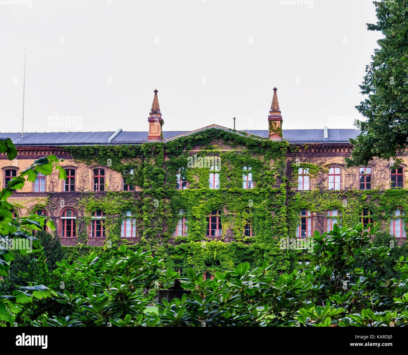 Berlin, Wittenau. Karl-Bonhoeffer-Nervenklinik mental hospital, Psychiatric clinic building No.10 houses a museum - Stock Image