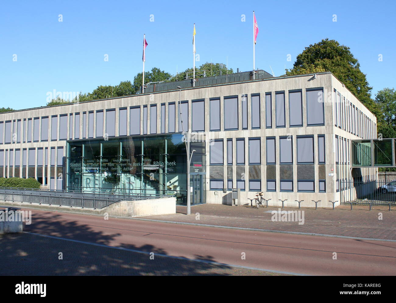Tresaor building, home of the Frisian History and Literature Centre, Provincial library and Museum in Leeuwarden, - Stock Image