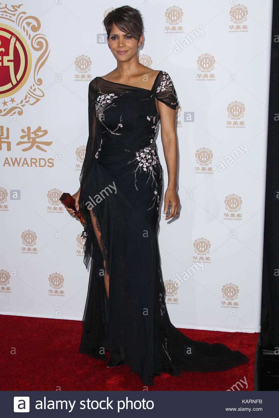 Halle Berry. Actress Halle Berry, wearing a Elie Saab Couture gown ...