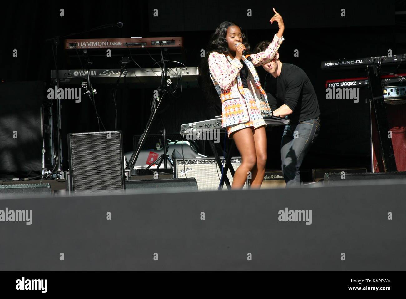 AMS  performing at Eirias Stadium Colwyn bay Wales Stock Photo