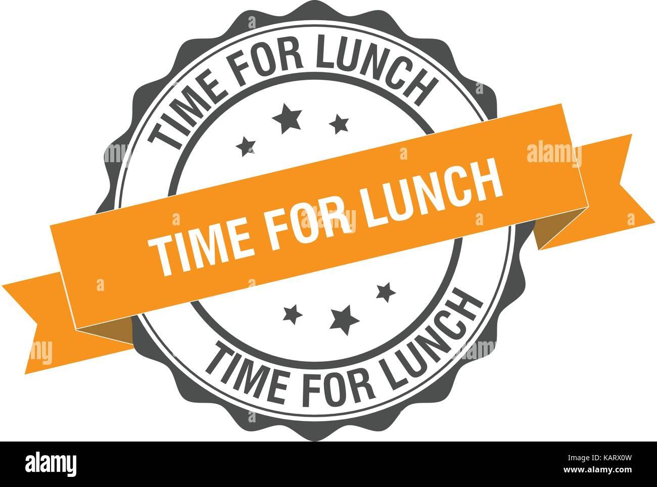 Time For Lunch Stamp Illustration