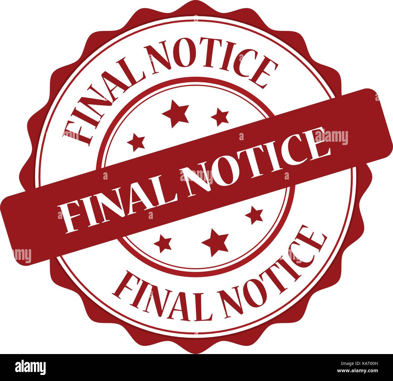 Final notice red stamp illustration - Stock Vector