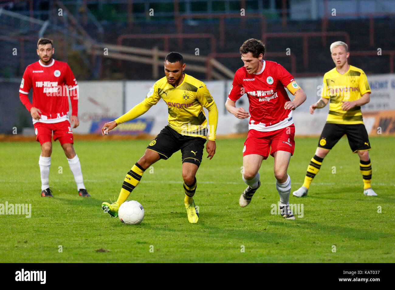 sports, football, Regional League West, 2017/2018, Rot Weiss Oberhausen vs BVB Borussia Dortmund U23 1:0, Stadium - Stock Image