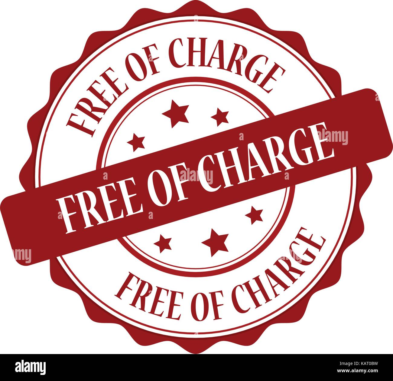 Free of charge red stamp illustration - Stock Vector