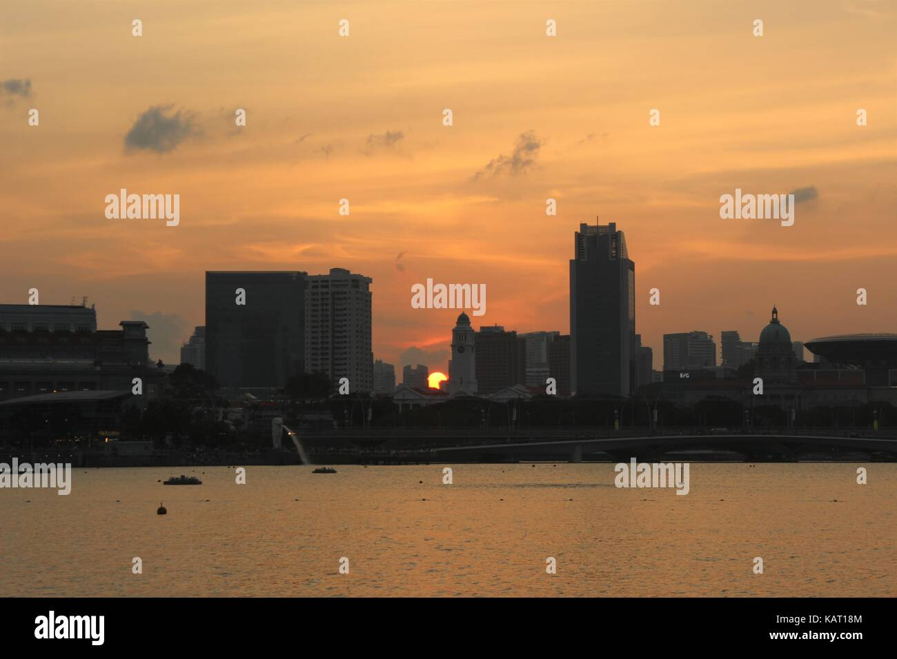 Sunset in Singapore - Stock Image
