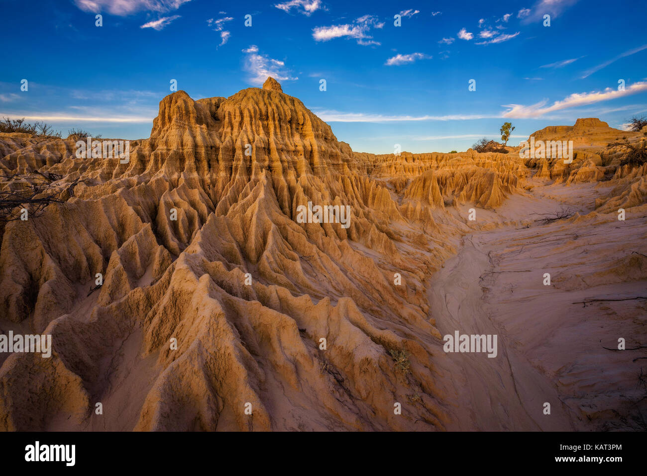Formations in outback desert of New South Wales in Australia - Stock Image