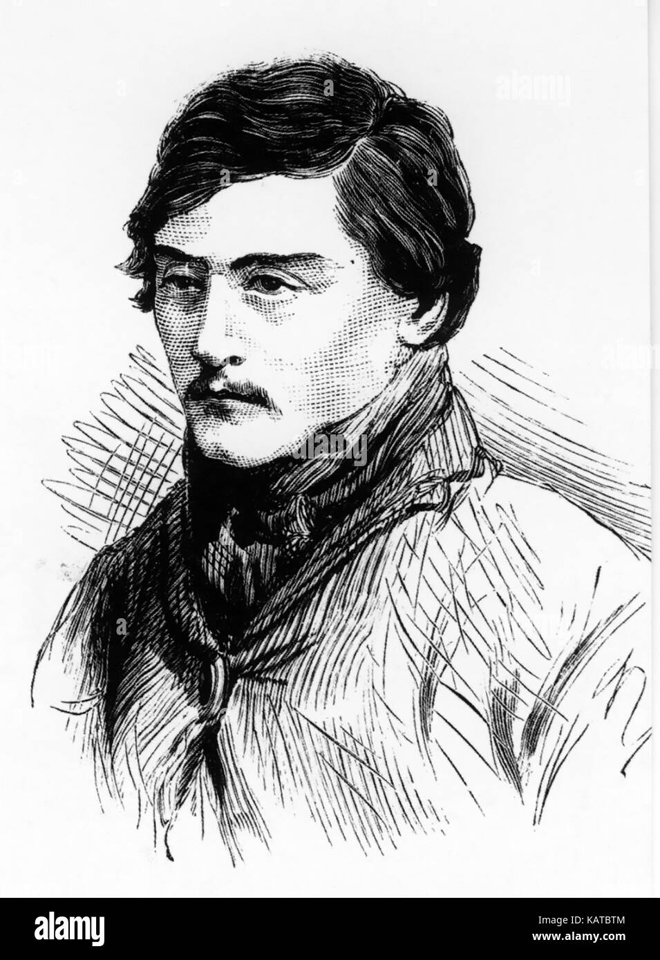 DANIEL KELLY (1861-1880) Australian bushranger brother of Ned Kelly. From The Illustrated Australian News, 28 November - Stock Image