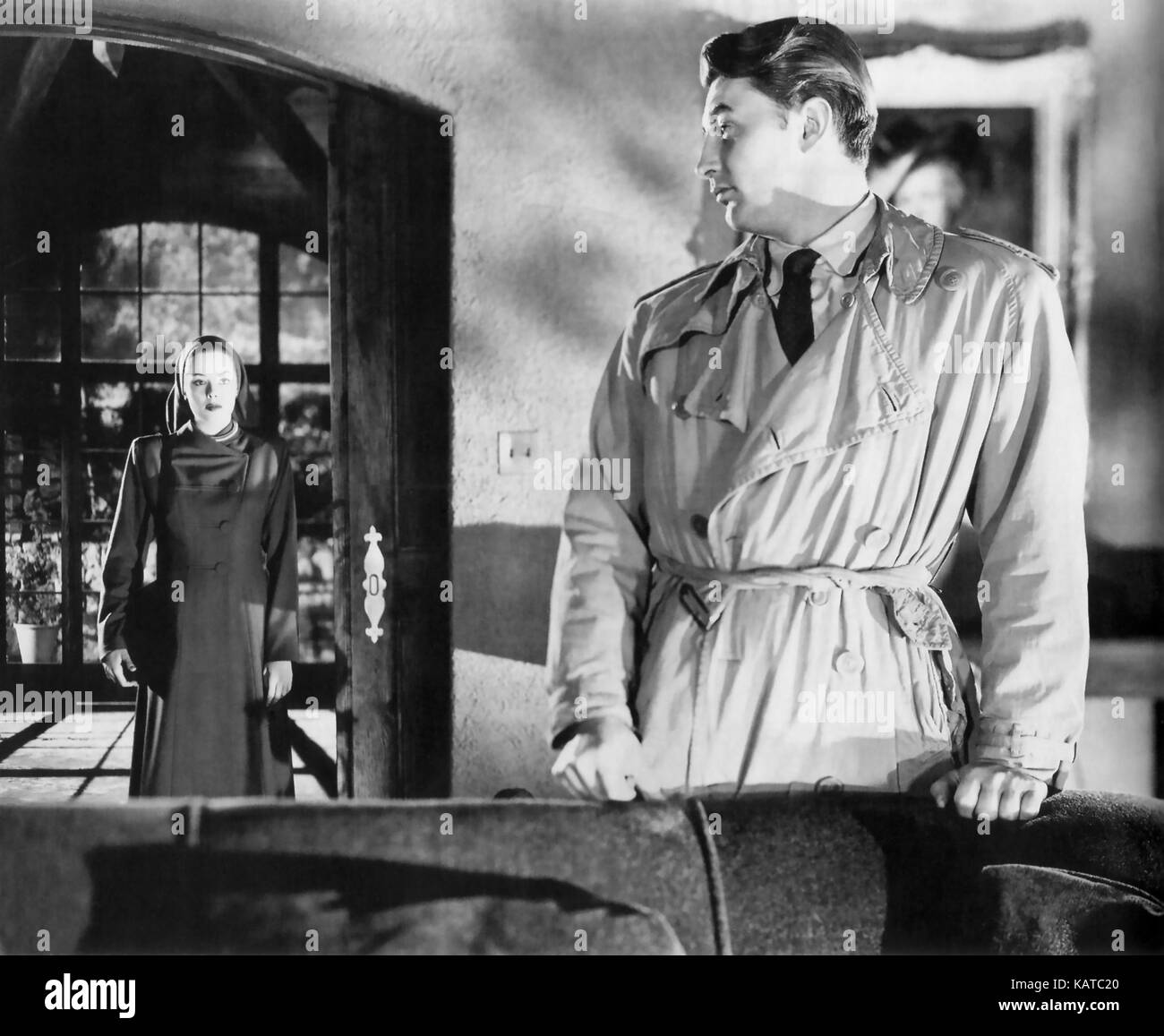 OUT OF THE PAST 1947 RKO Radio pictures film with Jane Greer and Robert Mitchum - Stock Image