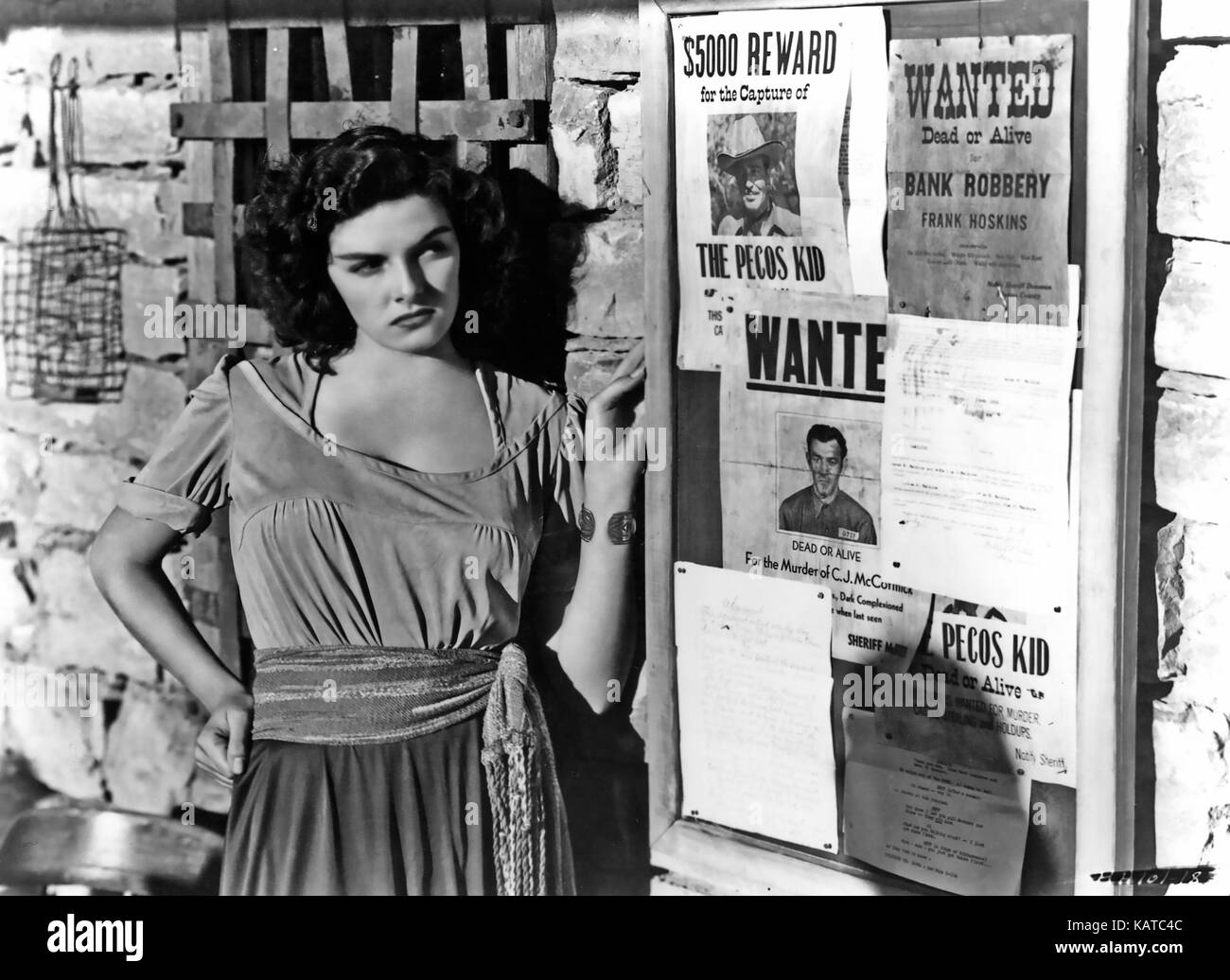 THE OUTLAW 1943 Howard Hughes Productions film with Jane Russell - Stock Image