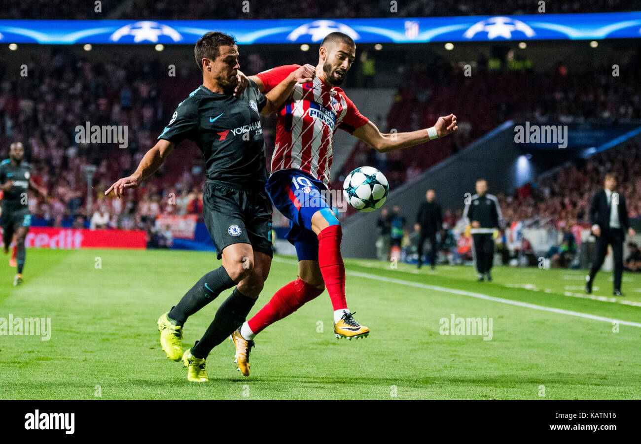 Madrid, Spain. 27th Sep, 2017. during the football match of group stage of 2017/2018 UEFA Europa League between - Stock Image