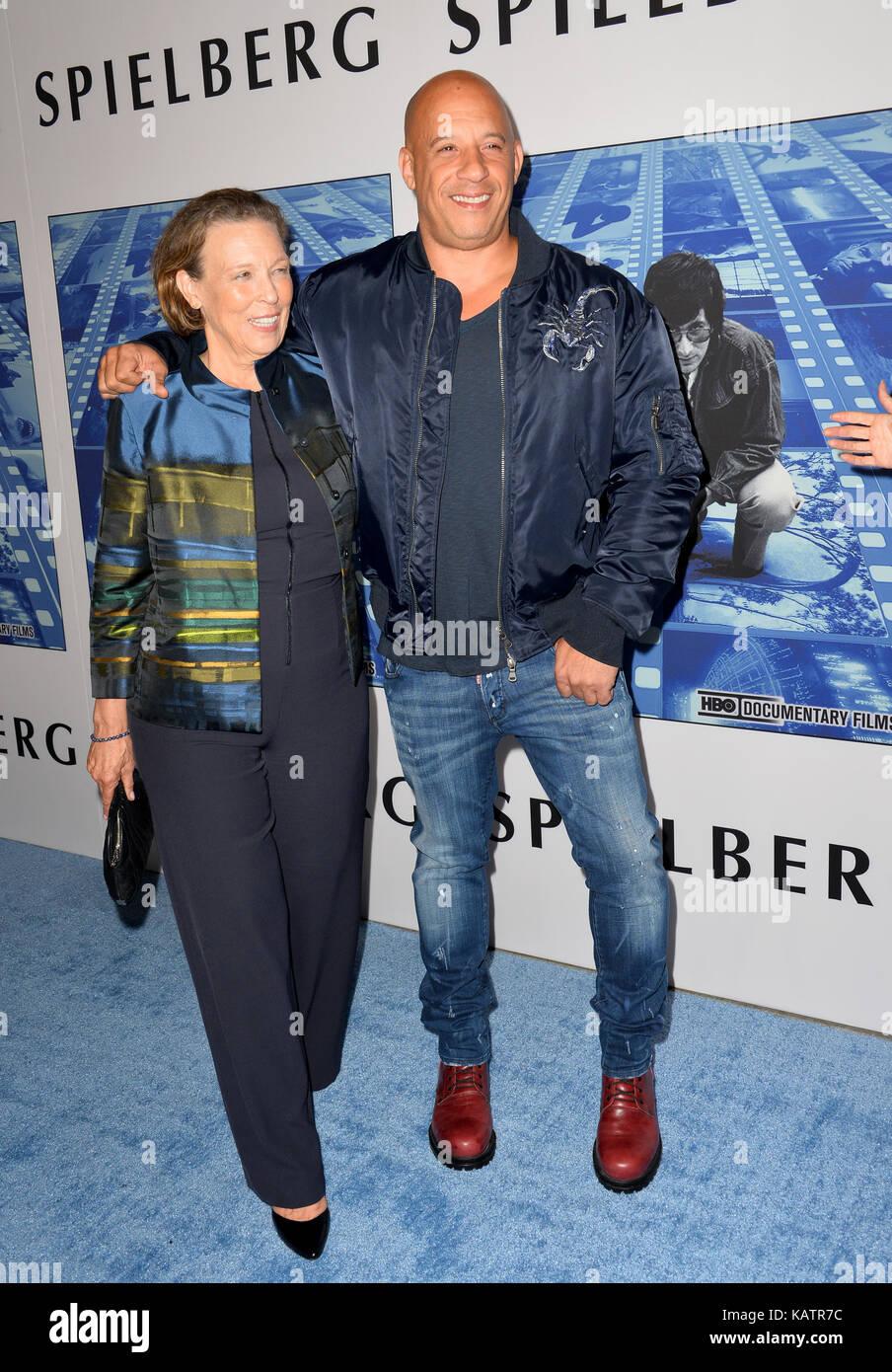 Los Angeles, USA. 26th Sep, 2017. Vin Diesel & mother ...Vin Diesel Mother Photos