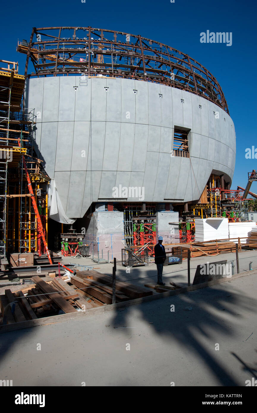 Los Angeles, USA. 27th Sep, 2017. Construction underway on The Academy Museum of Motion Pictures designed by architect - Stock Image