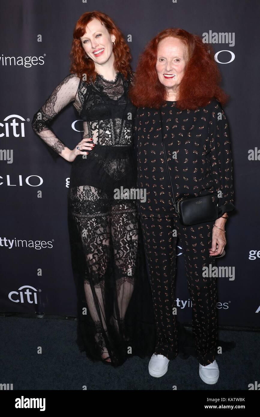 New York, NY, USA. 27th Sep, 2017. Karen Elson, Grace Coddington at arrivals for 58th Annual Clio Awards, The Tent - Stock Image